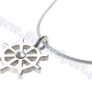 Srebrny naszyjnik SilverSurf Stering Wheel S z kryształem Swarovskiego najtaniej