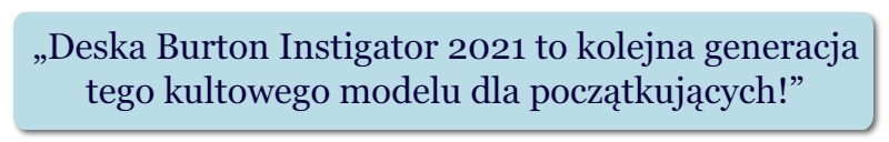 deska Burton Instigator 2021