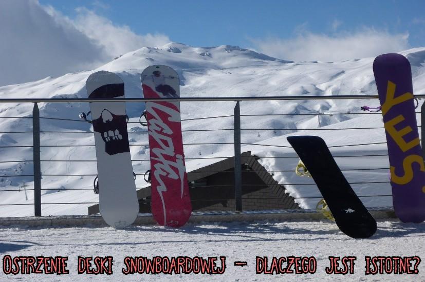ostrzenie deski snowboardowej