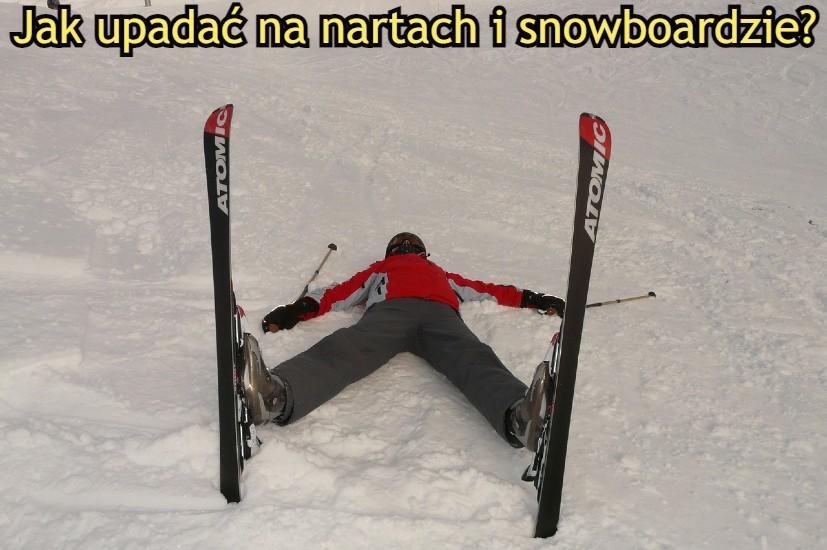 jak upadać na nartach i snowboardzie